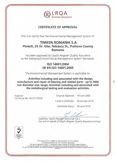ISO 14001: 2004 SR EN ISO 14001: 2005